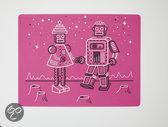 Modern Twist Mark Matz Robot Love Placemat - 40 x 32 cm - Roze