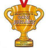 Trofee met lint - Trophy - Jubilaris