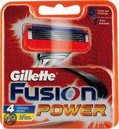 Gillette Fusion Power - 4 stuks - Scheermesjes