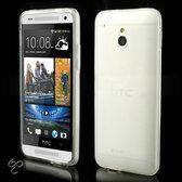 Flexibel hoesje wit HTC One mini