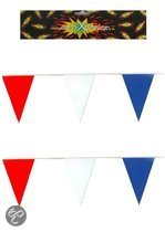 Vlaggenlijn rood / wit / blauw 10 meter