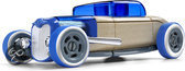 Automoblox: Mini HR-3 Hotrod Coupe - Blauw