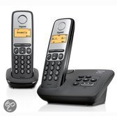 Gigaset A130A - Duo DECT telefoon met antwoordapparaat - Zwart