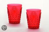 Baci Milano Baroque & Rock Acrylaat Waterglas - Melamine - Set van 2 - Rood