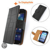 TCC Luxe Hoesje Samsung Galaxy Note 3 Book Case Flip Cover - Croco Zwart