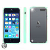 Apple iPod Touch 5 Hoesje Bumper case met achterkant Mint Groen Green