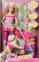 Barbie Puppy & Kinderwagen