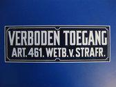 """Bord """"Verboden Toegang"""" - Blauw/Wit"""