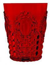 Baci Milano Baroque & Rock Waterglas - Acrylaat - Rood - Set van 6 stuks