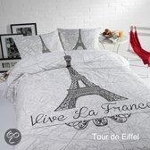 Papillon Tour d'Eiffel dekbedovertrek - Wit - eenpersoons (140x200/220 cm + 1 sloop)
