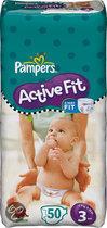 Pampers Active Fit - Luiers Maat 3 - Voordeelpak 50st