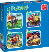 Jumbo 4 in 1 Puzzel: Stoere Jongens