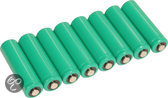 Soul 8 Ni-Mh Oplaadbare Batterijen - 11 x 4.5 x 1.4 cm - Groen