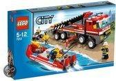 LEGO City Off-road brandweerwagen en brandweerboot - 7213