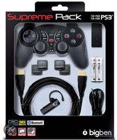 Bigben Draadloze Controller + Hdmi Kabel + Triggers + Bluetooth Headset Zwart PS3 + PC