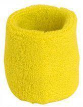 Benza Pols Zweetbandje - Geel 6 cm (1 stuks)