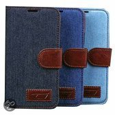 Movizy Denim wallet standcase Samsung Galaxy S5 - blauw