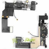 Dock Connector Charging Port + Headphone Jack Flex Cable Black geschikt voor iPhone 5S