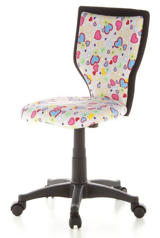 hjh office Kiddy Lux - Bureaustoel  - Kinder - Flowers - Hearts