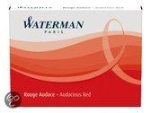 Waterman korte Inktpatronen Rood 1x6 stuks