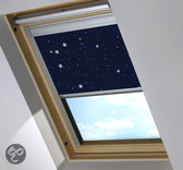 Bloc verduisterend dakraamgordijn geschikt voor Fakro FTP/V 7 (78/140), Night Sky