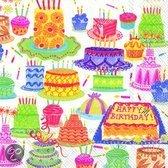 IHR Birthday Cakes Servetten - 16.5 x 16.5 cm -16.5 x 16.5 cm