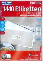 Easy Computing 1440 Etiketten - 45.7 X 21.2 mm