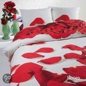 Papillon Red Roses dekbedovertrek - Wit - Lits-jumeaux (240x200/220 cm + 2 slopen)