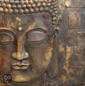 Arthouse Canvas Black & Gold Buddha - 60x60 cm