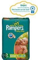 Pampers Baby Dry - Luiers Maat 2 - Voordeelpak 64st