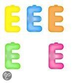 Opblaas letter E  Roze