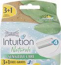 Wilkinson Sword Intuition Naturals Sensitive - 4 stuks - Scheermesjes