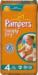 Pampers Simply Dry - Luiers Maat 4 - Voordeelpak 50st