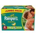 Pampers Baby Dry - Luiers Maat 4 - Jumbo box plus 76st