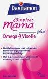 Davitamon Mama Compleet Multivitamine + Omega 3 Visolie - Zwangerschap - 60 stuks