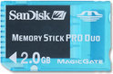 SanDisk Memory Card Pro Duo 2 GB Blauw PSP