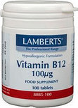 Lamberts Vitamine B12 100µ - 100 Tabletten - Vitaminen