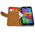 Movizy telefoonhoesje Samsung Galaxy S5 wallet case - wit