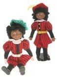Zwarte Piet pop van porcelein