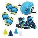 Imaginarium Rolling Set blue - Skates met brede wielen en bescherming