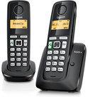 Gigaset A220A - Duo DECT telefoon met antwoordapparaat - Zwart