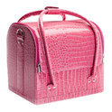 Veronica - Beautycase - Croco Roze