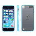 Apple iPod Touch 5 Hoesje Bumper case met achterkant Licht Blauw Blue