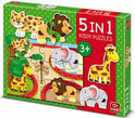 King Dierentuin 5 in 1 Kiddy Puzzles