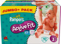 Pampers Active Fit - Luiers Maat 3 - Jumbo Pack plus 92st