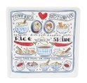 Blond Amsterdam Love Rice Bord - 18 x 18 cm - Wit