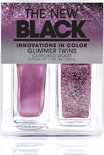 The New Black Glimmer Twins - Outfoxed violet - Nagellak