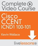 CCENT ICND1 100-101 LiveLessons Complete Video Course Access Code Card