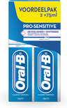 ORAL B Pro-Sensitive + Whitening - 2 x 75 ml - Tandpasta