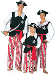 Carnavalskleding Piraat Schateiland kind Maat 152